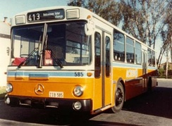 Ansair bodied Mercedes-Benz O305 at Spence in 1982