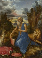 St Jerome in the Wilderness, 1495, oil on panel, National Gallery, London