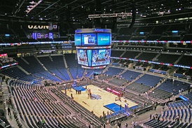 Amway Center in its basketball-venue arrangement after hosting its first NBA regular season game