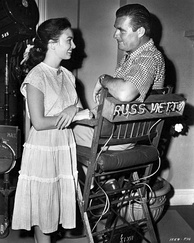 With Ann Blyth on the set of A Woman's Vengeance (1948)