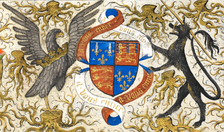 Coat of arms of John of Lancaster, 1st Duke of Bedford, detail from Bedford Hours