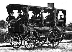 Bollée L'Obéissante steam bus photographed in 1875