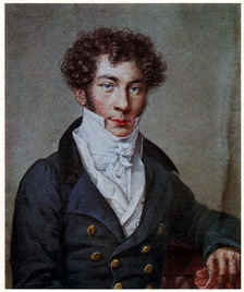 Batyushkov in 1815; portrait by Nikolai Utkin