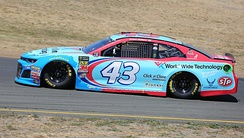 Bubba Wallace in the No. 43 at Sonoma Raceway in 2018