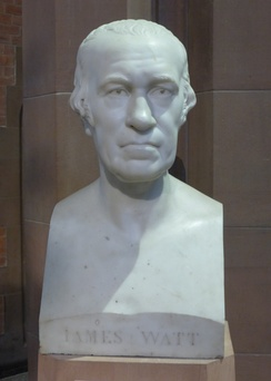 Bust of Watt in the Scottish National Portrait Gallery