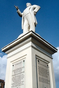 Statue of the Northampton MP Charles Bradlaugh in the town.