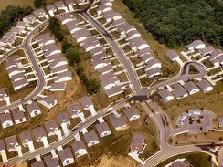 Tract housing in Kentucky near Cincinnati, Ohio