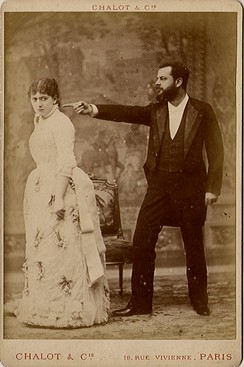 Jacques Damala and Jane Hading in Le Maître des Forges at the Théâtre du Gymnase, in Marseille (c. 1883)