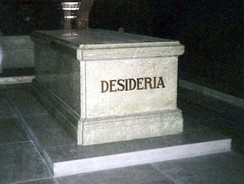 The sarcophagus of Desideria at Riddarholm Church in Sweden. The name was given to Désirée Clary not at birth but when she was created Crown Princess of Sweden in 1810.
