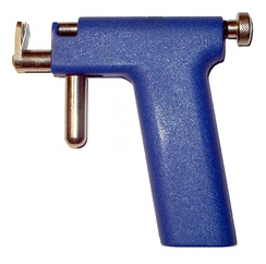 Piercing guns like this one with its plastic, non-autoclavable handle, are not professionally favored or recommended, even for ears.[99][100][101]