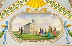The college circa 1860s, from a mural at the U.S. Capitol