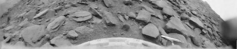 Photo of the surface of Venus taken by the Venera 9 lander on October 22, 1975