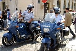 Police (Gendarmerie) motorcyclists in Paris