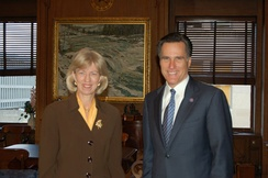 Norton with Governor Mitt Romney in 2005