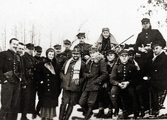 The first partisan of World War II Hubal and his unit in Poland in winter 1939