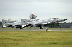 JASDF F-4EJ Kais in grey air superiority paint scheme in 2002