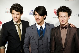 Jonas Brothers at the Grammy Auction in February 2009
