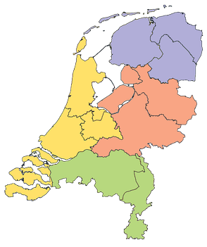 NUTS-1 regions of the Netherlands