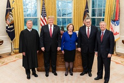 Graham joins President Donald Trump for swearing-in of recently confirmed Attorney General William Barr on February 14, 2019