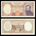 10,000 lire – obverse and reverse – printed in 1962