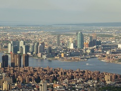 Long Island City, Queens as seen across the East River from One World Trade Center, Manhattan, in 2017