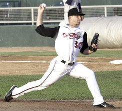 Marcus Walden with the Class A Lansing Lugnuts in 2011