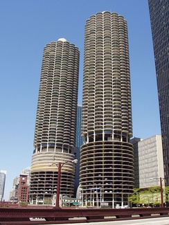 Marina City from across the river