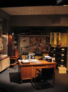 The set for Mulder's office.