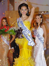 Salvadoran model Irma Dimas was crowned Miss El Salvador in 2005. She made headlines recently for her entry into Salvadoran politics.