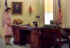 The Johnson desk in 1968