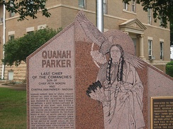 Quanah Parker Monument at Hardeman County Courthouse