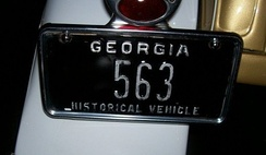 The Ramblin' Wreck license plate was issued in 1958. The Wreck is Georgia Historical Vehicle#563.