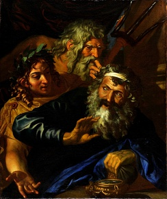 Laomedon Refusing Payment to Poseidon and Apollo, by Joachim von Sandrart