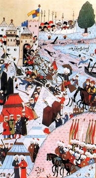 Siege of 1456, Ottoman miniature.