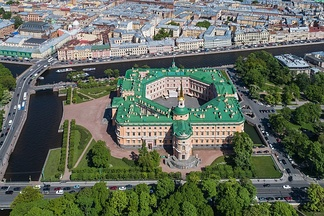 St. Michael's Castle in Saint Petersburg, where Emperor Paul was murdered mere weeks after the opening festivities