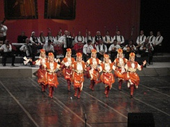 Female folk dancers