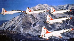 T-38 Talons in Thunderbird livery, about 1980.
