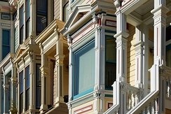 Victorian facades on 16th Street, San Francisco