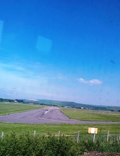 View of Runway 02 from the West Coastway railway line