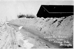 The Blizzard of 1949 near Sterling