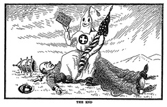 """The End"" Referring to the end of Catholic influence in the US. Klansmen: Guardians of Liberty 1926"