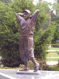 Mathewson statue in Christy Mathewson Park in Factoryville, Pennsylvania