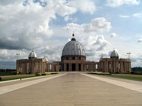 Basilica of our Lady of Peace in Yamoussoukro; one of the largest Christian places of worship in the world.