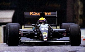 Roberto Moreno in the Andrea Moda S921, at the 1992 Monaco Grand Prix, the only race for which the team qualified