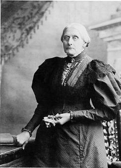 Susan B. Anthony worked with Tubman for women's suffrage