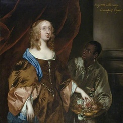 A 1651 painting of Scottish noblewoman Elizabeth Maitland, Duchess of Lauderdale with her black servant.