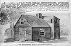 The first taxpayer-funded public school in the United States was in Dedham, Massachusetts.