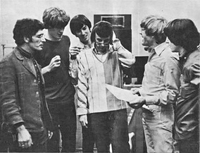 Spector (center) at Gold Star Studios with Modern Folk Quartet in 1965