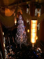 The Grand Foyer decorated with Christmas decorations for the Christmas Spectacular