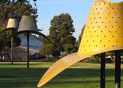 Hat In Three Stages of Landing by Claes Oldenburg and Coosje van Bruggen